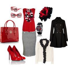 """""""Red done right :)"""" by dodrilltina on Polyvore"""