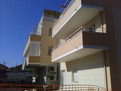 Immeuble Hestia, fin de projet, arrière, balcons