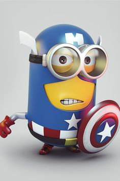 Caption America minion