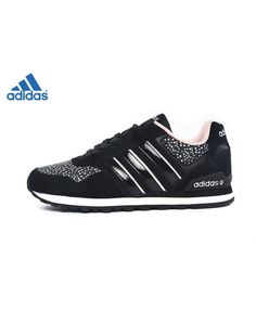 super popular 73e87 5adec Adidas Neo Label 10k W Noir Orange Leopard F98276 Chaussures