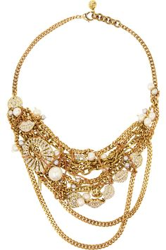 Lulu Frost|Bord La Mer gold-plated, crystal and freshwater pearl necklace