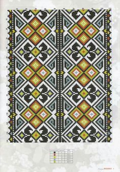 Cross Stitch Borders, Cross Stitch Patterns, Embroidery Stitches, Embroidery Designs, Palestinian Embroidery, Loom Beading, Folk Art, Bohemian Rug, Diy And Crafts