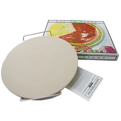 Sassafras Pizza Stone Round 15 Inch Round Baking Stone duplicates the effects of a professional pizzeria oven. The stone absorbs moisture, creating a crispy pizza crust! The round shape is great for a traditional-style pizza. Also try breads, pretzels, cookies, and anything else that uses dough. Made of Stoneware. $24.99