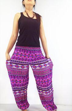 Women Fashion Pants Yoga Pants Aladdin Pants by LuckyGirlShop Gypsy Pants, Hippie Pants, Boho Pants, Hippie Boho, Bohemian, Harem Trousers, Trousers Women, Aladdin Pants, Yoga Pant