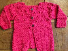 Chaleco tejido a crochet, con algodón , y crochet n 31/2. 70 ptos para 3 años