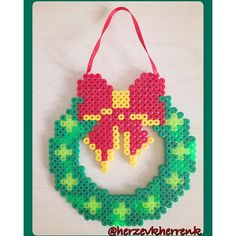 Christmas wreath hama beads by herzevkherrenk