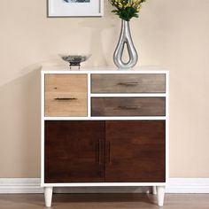 Christian Birch, Grey and Oak Entry Cabinet | Overstock.com Shopping - The Best Deals on Coffee, Sofa & End Tables