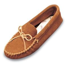 Minnetonka Mens Leather Laced Soft Sole Moccasin - Mens Moccasins at Moccasins