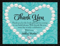 Diamonds & Pearls Thank You Card [DI-1507TY] : Custom Invitations and Announcements for all Occasions, by Delight Invite