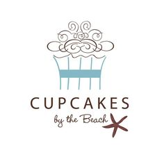 Logo Design for Cupcakes by the Beach by Camille Chung.