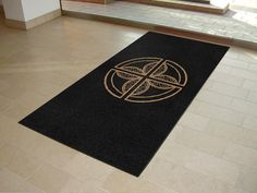 Logo floor mats supplied to Château St Pierre de Serjac a magnificent Château and vineyard in the South of France.  Classic black logo mats featuring the Chateau's striking company logo in colour sandalwood.