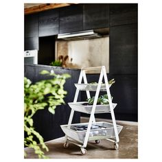 RISATORP Utility cart, white - IKEA Ikea Kitchen Furniture, Studio Furniture, Furniture Sets, Ikea Island, Kitchen Island Trolley, Ikea Cart, Dish Detergent, Utility Cart, Small Space Solutions