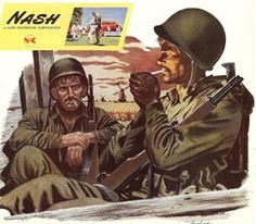 Nash Kelvinator Corporation ad Military Men in by TheIDconnection, $10.00