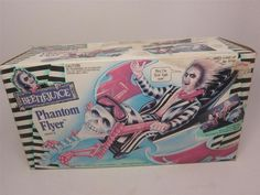 Best kind of transportation toy! #Beetlejuice Phantom Flyer-Motorcycle 1990 Vehicle New NRFB Stickers #Kenner