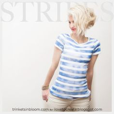 DIY Striped T-Shirt with Spray Paint