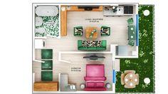 APARTAMENT DAISY GARDEN - 2 CAMERE Suprafaţă construită: 46.62 mp Suprafaţă utilă: 38.80 mp Aparatament disponibil doar pentru PARTER Se vinde cu GRADINA PRET: 37.200e + TVA 5% Gallery Wall, Relax, Concept, Flooring, Apartments, Building, Modern, Daisy, Home Decor