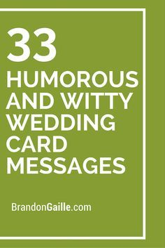33 Humorous And Witty Wedding Card Messages