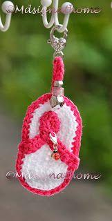 Mdsign at Home: pink ribbon-slipper