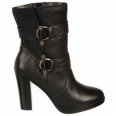 Harley Davidson Women's Marissa Dress Boot at Famous Footwear Botas Sexy, Sneakers Looks, Cute Prom Dresses, Biker Girl, Shoe Boots, Women's Boots, Dress With Boots, Winter Boots, Black Boots
