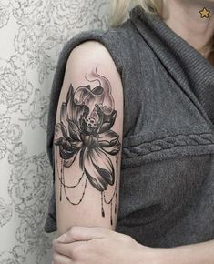 The lotus tattoo represents purification and faithfulness. In Buddhism, lotus flower is one of Buddhist relics often appears with Buddha statues. Unalome Tattoo, Lotusblume Tattoo, Tattoo Salon, Calf Tattoo, Ganesha Tattoo, Samoan Tattoo, Polynesian Tattoos, Tattoo Quotes, Lotus Tattoo Design