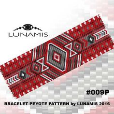 Bracelet pattern peyote pattern stitch by LunamisBeadsPatterns