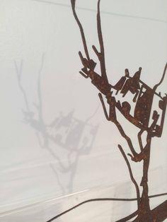 John Kelly 'Cow up a tree' Sculpture.