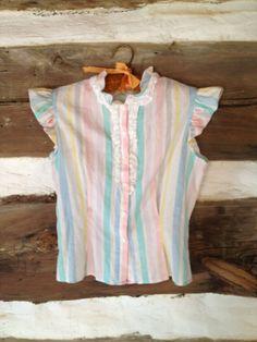Vintage candy striper blouse