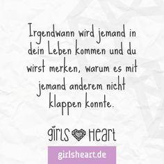 Wer kennt das? Mehr Sprüche auf: www.girlsheart.de #partner #traummann #traumfrau #liebe #leben #warten #schicksal #hoffnung