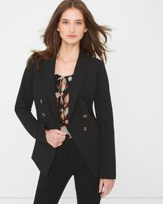 WHBM Trophy Jacket $150 - This is flawless in any color, but you can never go wrong with black.