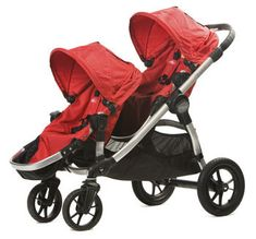 Baby Jogger City Select tandem stroller, optional second seat placement in front of the first seat. Double Stroller For Twins, City Select Double Stroller, Baby Jogger City Select, Best Double Stroller, Twin Strollers, Best Baby Strollers, Double Strollers, Best Tandem Stroller, Jogging Stroller