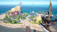 """It looks like some Xbox One owners who pre-ordered Sea of Thieves on Xbox One are receiving an error message that they """"are too early"""" to play the Closed Beta. Sea of Thieves is set to … Sea Of Thieves Game, V Steam, Water Effect, Pirate Life, Little Island, Rest Of The World, Indie Games, Legend Of Zelda, Xbox One"""