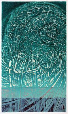 碧風Jasper Wind-2008/ED50    36.2x21.5cm  copperplate print with chine collé( etching) HAYASHI Takahiko 林孝彦