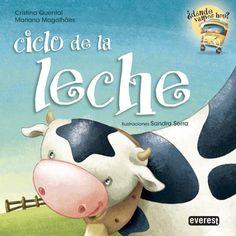 """""""ciclo de la leche""""de Cristina quental-mariana magalhaes. ¿Quieres saber de dónde viene la leche? Pues acompaña a la clase de la maestra Teresa en su visita al pastizal, a la sala de ordeño y a la fábrica de productos lácticos. De esta manera descubrirás el ciclo de la leche, desde su origen hasta que, finalmente, llega a tu vaso. Mu, mu, mu…   DE 7 A 9 AÑOS. Signatura: R EVE don"""