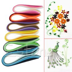 Y142 New Novelty 1 x 120 Stripes Quilling Paper 3mm Width DIY Mixed Color Origami Paper Craft Toy