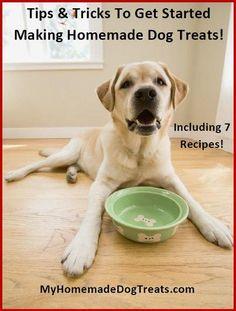 Homemade dog treats - 7 recipes!