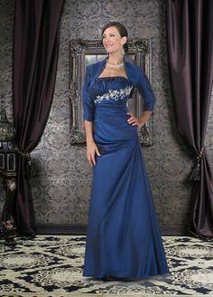 A-line Floor-length Taffeta Mother's Dresses 13606515