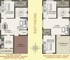 X House Plan East Facing As Per Vastu on