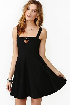 Buckle Down Skater Dress