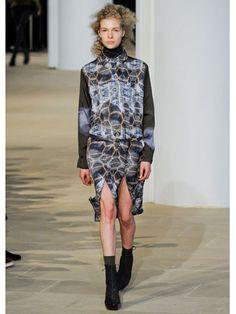 Fall 2012 Fashion Week - reptile print + turtleneck