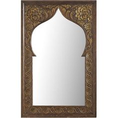 Persian Hand-Carved Mirror -- would like to recreate this as a floor mirror. Note to self: find someone who's remodeling a bathroom. Moroccan Mirror, Moroccan Decor, Moroccan Bathroom, Living Room Themes, My Living Room, Home Decor Mirrors, Wall Decor, Floor Mirror, Mirror Mirror