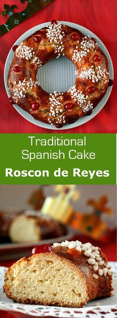 Roscon de reyes also known as the crown of kings is a Spanish brioche with Mediterranean flavors prepared in honor of the feast of Epiphany. Spanish Desserts, Spanish Cuisine, Delicious Desserts, Dessert Recipes, Dessert Ideas, Good Food, Yummy Food, Exotic Food, Mediterranean Recipes