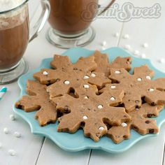 Hot Chocolate Roll-Out Cookie Recipe by Semi Sweet Designs | A wintery dough perfect for cookie cutters!