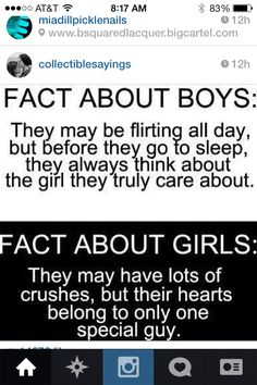 Fact about boys vs. fact about girls quotes frases de amor, frases tristes, Boy Quotes, Funny Quotes, Qoutes, Guy Friend Quotes, Quotes On Crush, Having A Crush Quotes, Secret Crush Quotes, Guy Friends, Fact Quotes