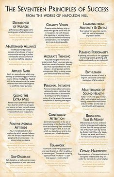 Quotes Sayings and Affirmations New Formal Design! Content from the original 17 Principles Poster redesigned using sophisticated typography on a light marble background. Full-color by poster explaining