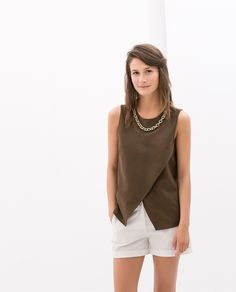 COMBINED TOP WITH CHAIN - Woman - NEW THIS WEEK | ZARA Ukraine