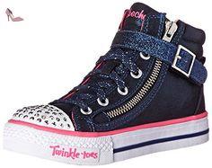 Skechers Shufflesheart & Sole, Sneakers Basses Fille - Bleu (dknv), 36 EU - Chaussures skechers (*Partner-Link)