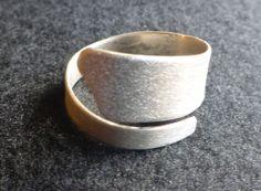 zilveren ring, gemateerd