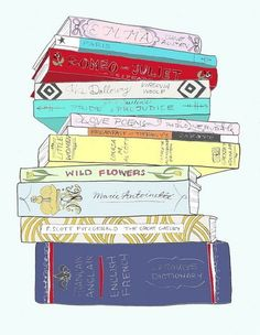 perspective with a stack of books!!! love it!