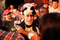 Stephen Colbert makes his way through the crowd at StePhest Colbchella '012.