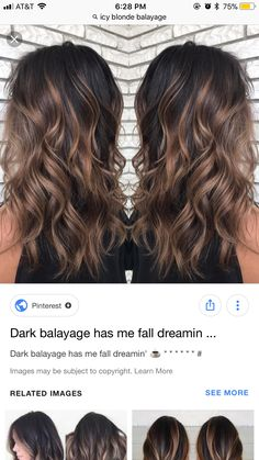 Brown Hair Balayage, Balayage Brunette, Hair Color Balayage, Brunette Hair, Hair Highlights, Dark Balayage, Haircolor, Medium Hair Styles, Long Hair Styles